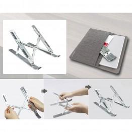 Складная алюминиевая подставка для ноутбука с чехлом Empire (NS-155) Серебристая