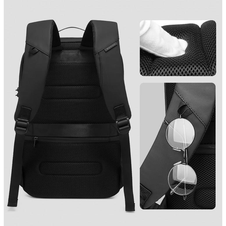 Мужской рюкзак Bange (BGS7225 Black) с USB Черный
