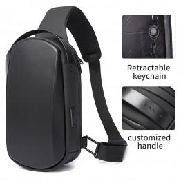 Рюкзак с одной лямкой Bange (BGS7256-Black) с USB Черный