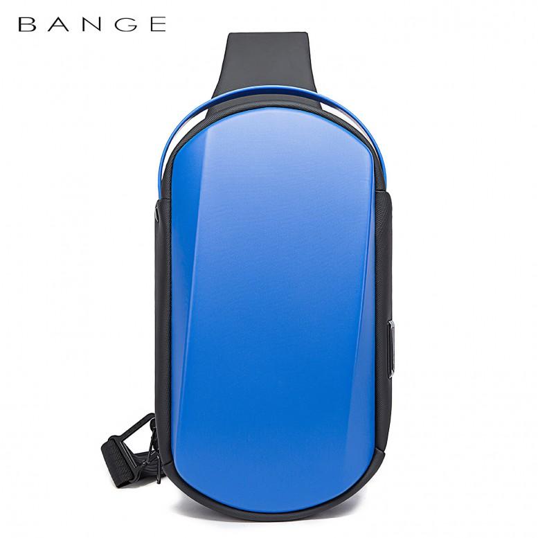 Рюкзак с одной лямкой Bange (BGS7256-Blue) с USB Синий