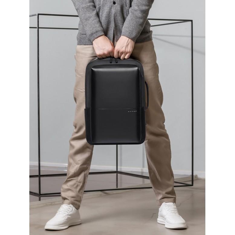 Классический деловой мужской рюкзак Bange (BGS53) с USB Черный