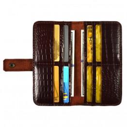 Кожаный кошелек Empire Leather Craft (CRL RB Casual) Темно-бордовый