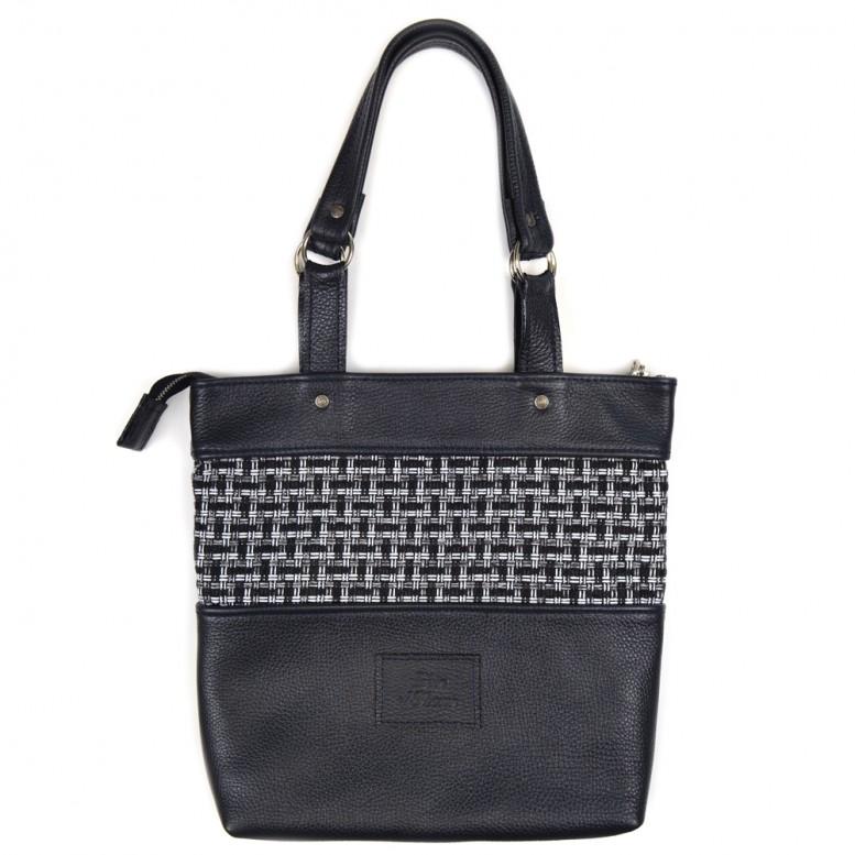Женская кожаная сумка Loren M Deep Blue